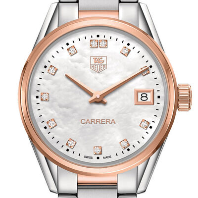 TAG Heuer Carrera Diamond Rose Gold Two-Tone Watch