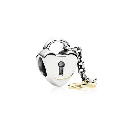 PANDORA Key To My Heart Charm, Silver & 14K