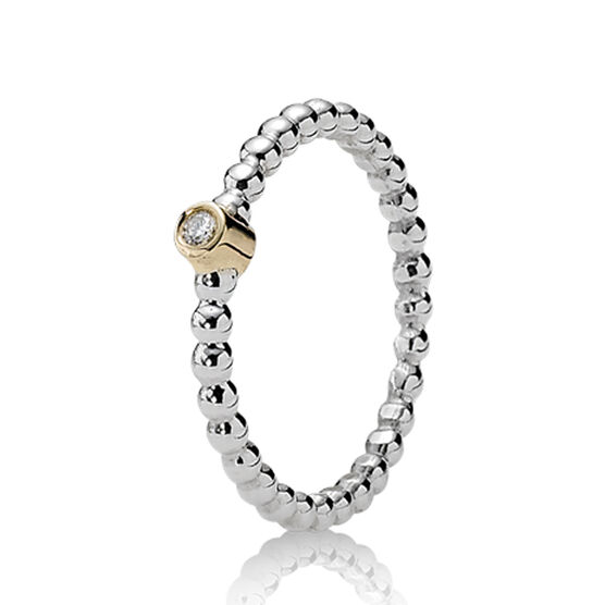PANDORA Bubble Diamond Ring, Silver & 14K