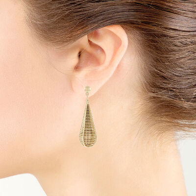 Toscano Webbed Drop Earrings 18K