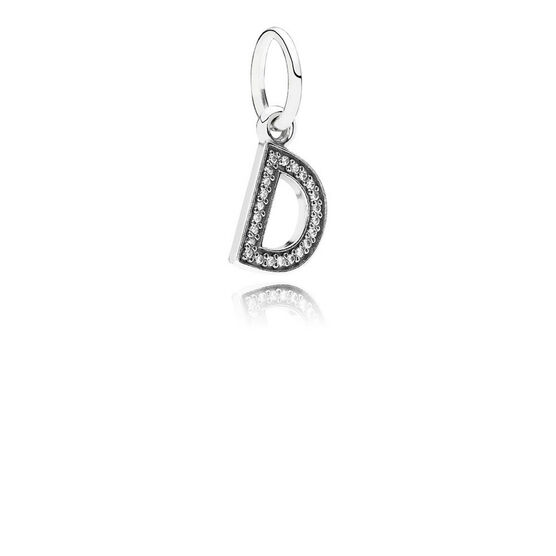 PANDORA CZ Dangle 'D' Charm