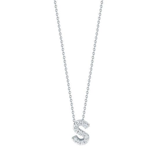 Roberto Coin Diamond Initial Pendant 18K Letter 'S'