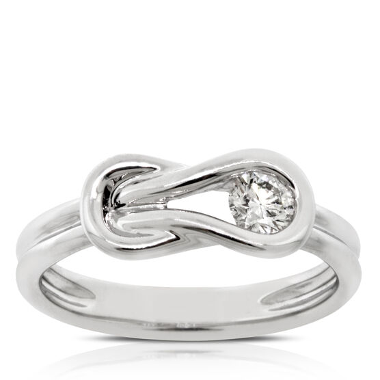 Everlon™ Diamond Knot Collection Ring 14K