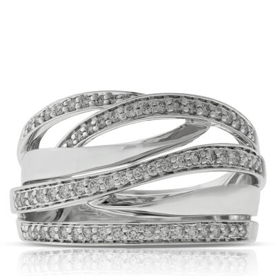 Crossover Diamond Bands 14K