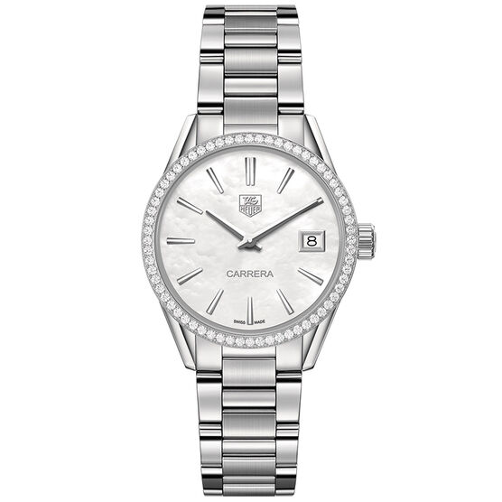 TAG Heuer Carrera Diamond Bezel Watch, 32mm