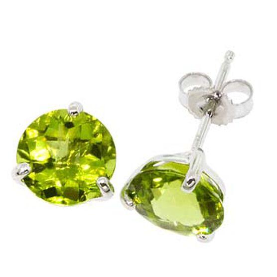 Peridot Earrings 14K