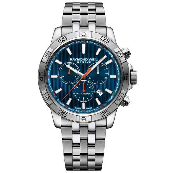 Raymond Weil Tango 300 Blue Dial Chrono Watch
