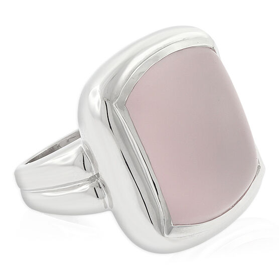 Lisa Bridge Frosted Rose Quartz Ring