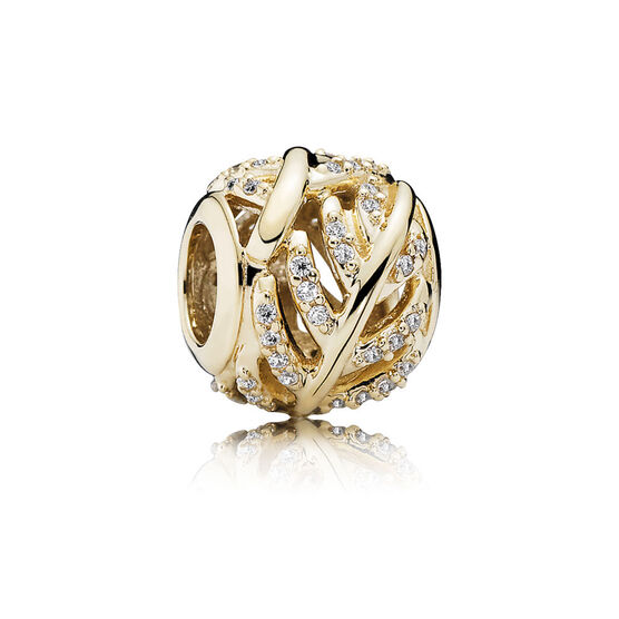 PANDORA Light as a Feather Charm 14K