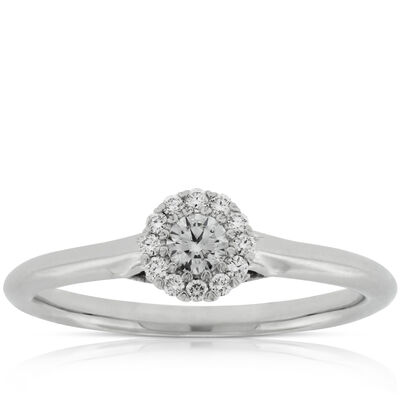 halo cupcake diamond ring 14k - Vintage Style Wedding Rings