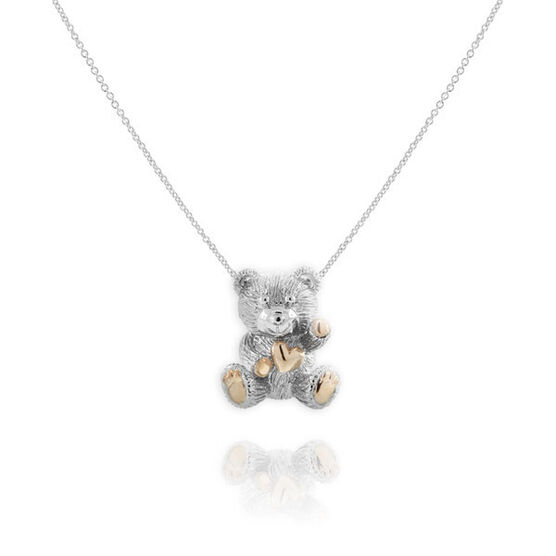 2011 Benny Bear Pendant in Sterling Silver & Rose Rhodium