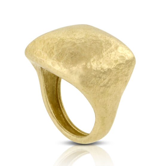 Toscano Collection Hammered Dome Ring 18K
