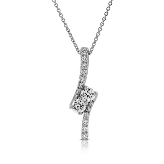 Perfectly Paired Diamond Pendant 5/8 ctw, 14K