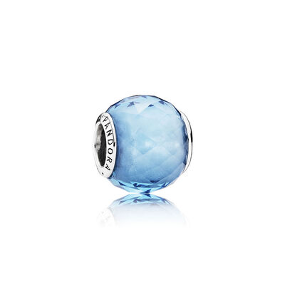 PANDORA Sky Blue Geometric Facets Charm
