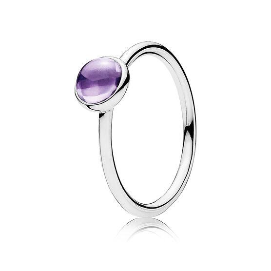 PANDORA Purple Poetic Droplet Ring