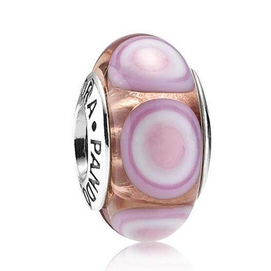 PANDORA Pink Stepping Stone Charm RETIRED