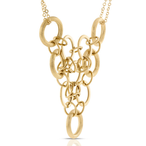 Toscano Collection Circle Necklace 14K