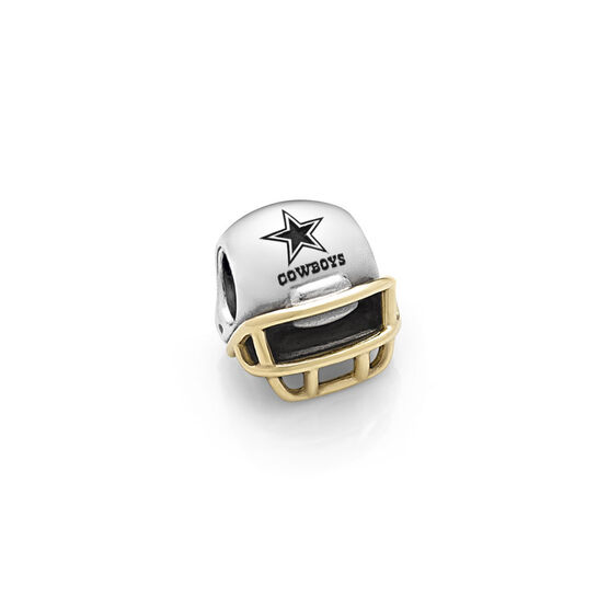 PANDORA Dallas Cowboys NFL Helmet, Silver & 14K