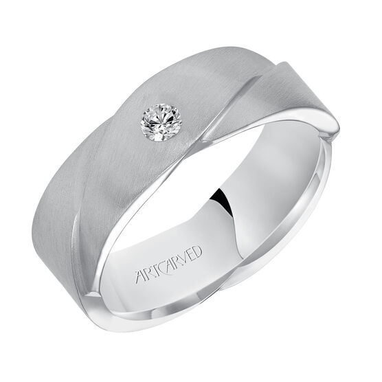 ArtCarved White Gold Diamond Band 14K