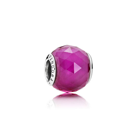 PANDORA Red Geometric Facets Charm
