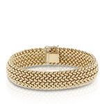 Toscano Large Weave Domed Bracelet 18K