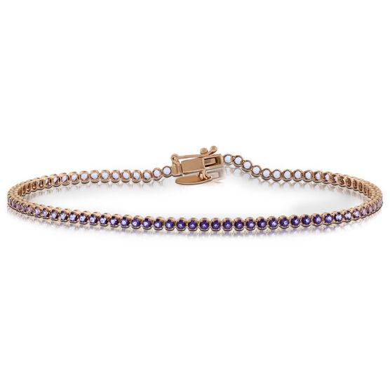 Rose Gold Purple Topaz Bracelet 14K