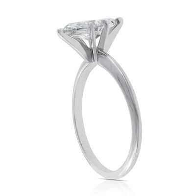 Marquise Cut Solitaire Ring 14K, 1 ct.