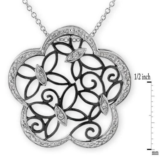 Butterfly Diamond Pendant 14K