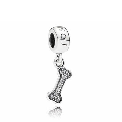 PANDORA Dog Bone CZ Dangle