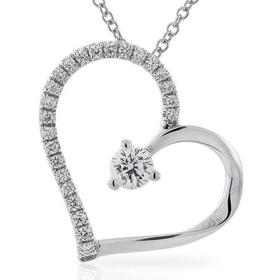 Signature Forevermark Diamond Heart Pendant 18K