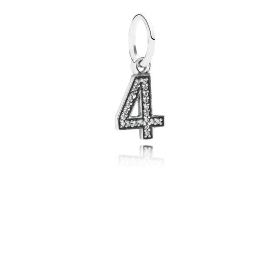 PANDORA CZ Dangle '4' Charm