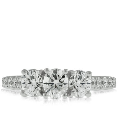 Signature Forevermark Black Label Triple Oval Diamond Ring 18K