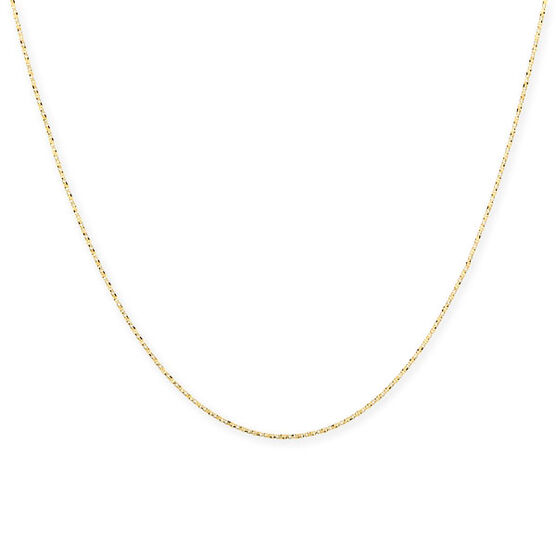 Diamond Cut Twisted Box Chain 14K, 18""