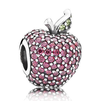 PANDORA Red Pavé Apple Charm