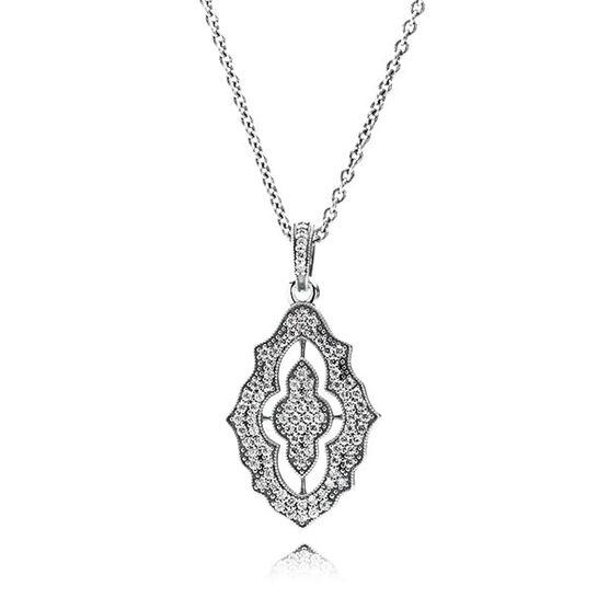 PANDORA Sparkling Lace CZ Necklace