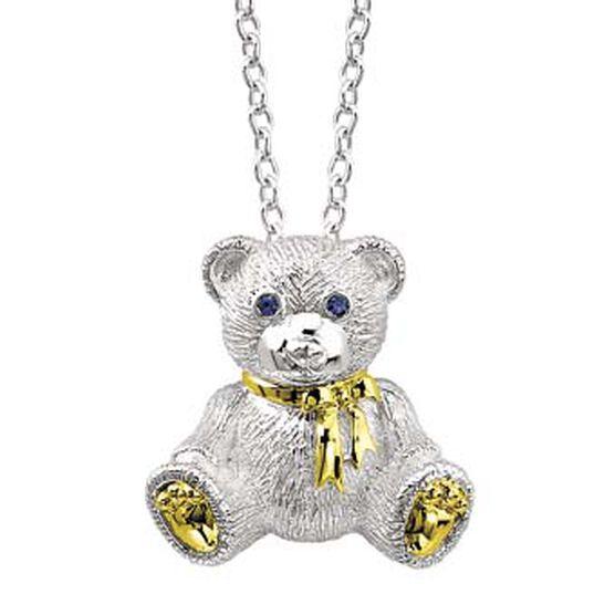 2007 Benny Bear Pendant in Sterling Silver & 18K