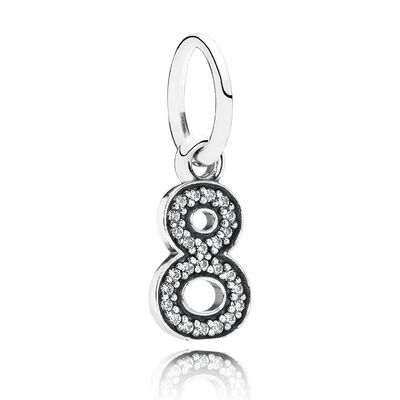PANDORA CZ Dangle '8' Charm