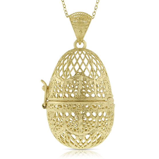 Toscano Collection Egg Locket 14K