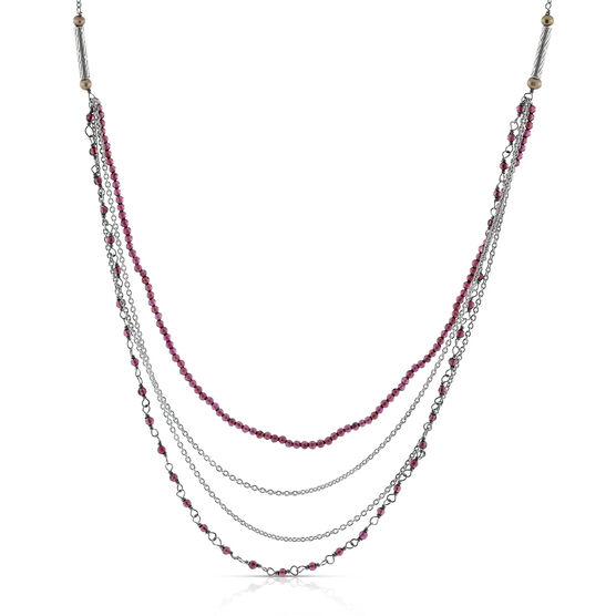 Lisa Bridge Garnet Necklace