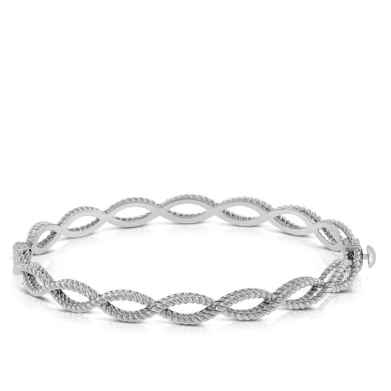 Roberto Coin White Gold Barocco Bangle 18K