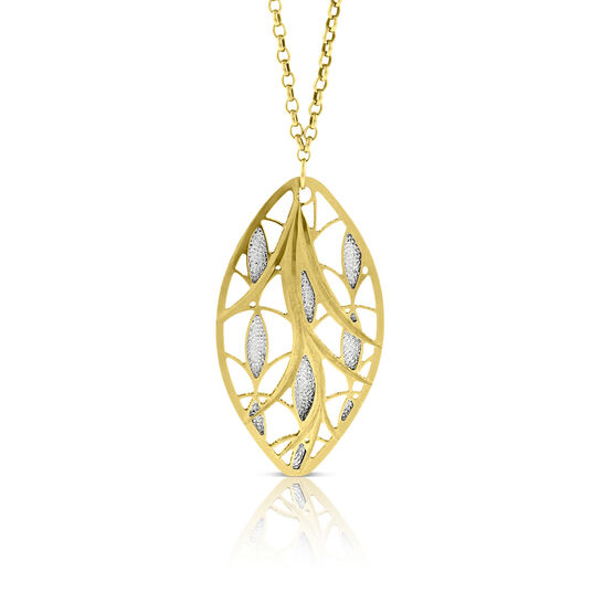 Marquise Shaped Pendant 14K