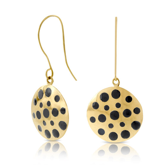 Dot Disc Earrings 14K