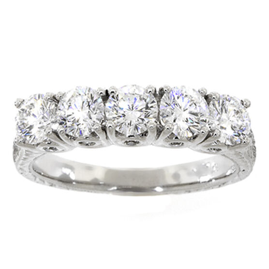 Ben Bridge Signature Diamond™ Ring in Platinum, 1 & 1/2 ctw.