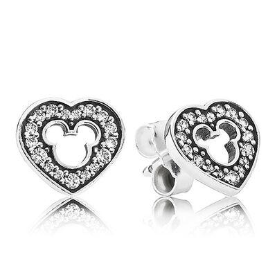 PANDORA Disney Mickey Silhouette Earrings