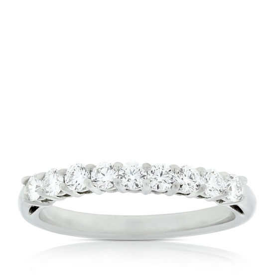 Nine Diamond Ring in Platinum