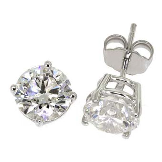 Diamond Solitaire Earrings 14K, 3 ctw.