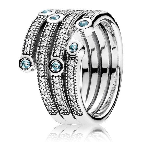 PANDORA Shimmering Ocean CZ Ring