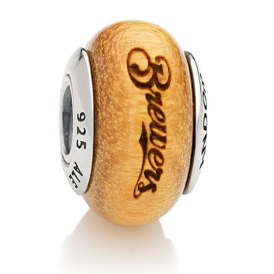 PANDORA Brewers MLB Wood Charm