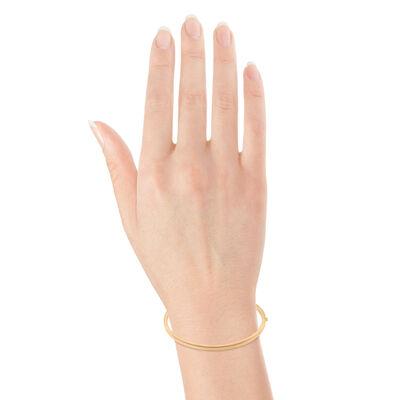 Rose Gold Roberto Coin Oval Bangle Bracelet 18K