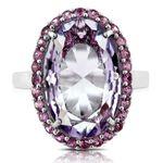Amethyst & Pink Sapphire Ring 14K